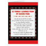 Funny Things I Learned From My Bichon Frise Greeting Card
