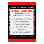 Funny Things I Learned From My Border Collie Greeting Card