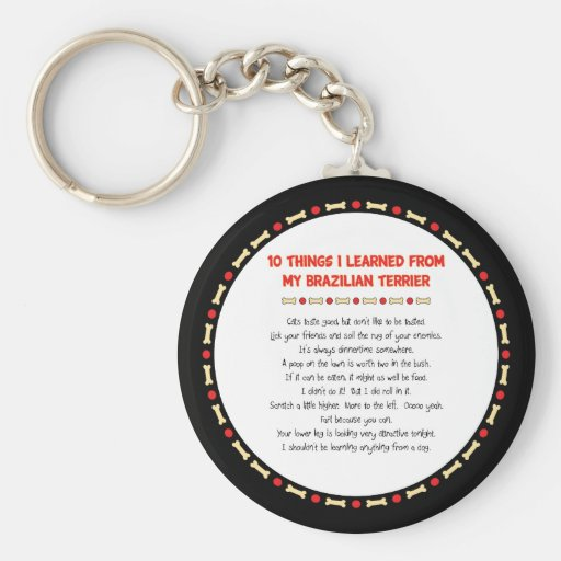 Funny Things I Learned From My Brazilian Terrier Key Chain