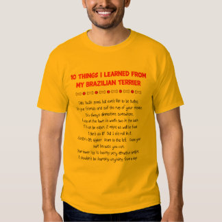 Funny Things I Learned From My Brazilian Terrier T-shirts
