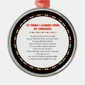 Funny Things I Learned From My Chihuahua Christmas Ornament
