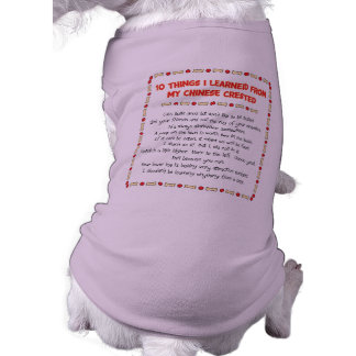 Funny Things I Learned From My Chinese Crested Shirt