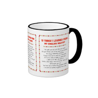 Funny Things I Learned From My English Mastiff Mugs
