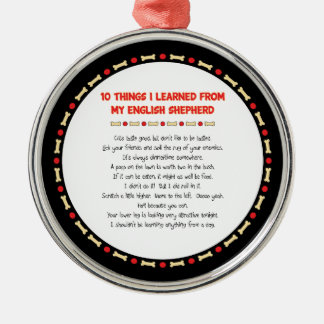Funny Things I Learned From My English Shepherd Christmas Ornament