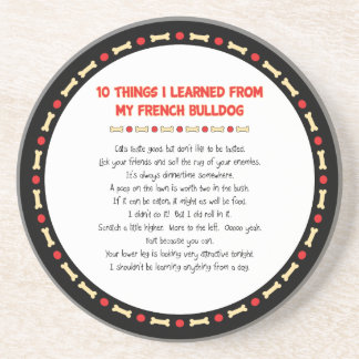 Funny Things I Learned From My French Bulldog Beverage Coasters