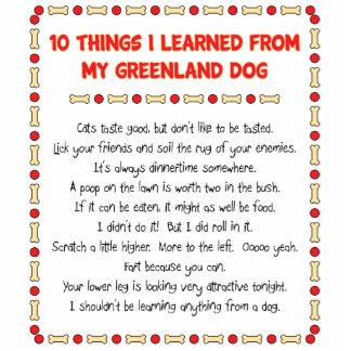Funny Things I Learned From My Greenland Dog Standing Photo Sculpture