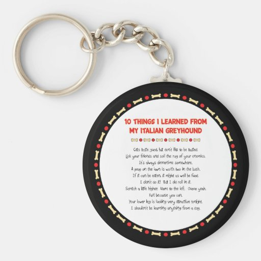 Funny Things I Learned From My Italian Greyhound Keychains