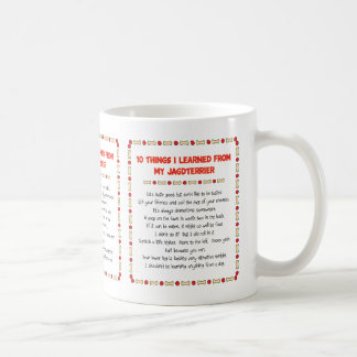 Funny Things I Learned From My Jagdterrier Basic White Mug