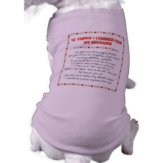 Funny Things I Learned From My Keeshond Shirt
