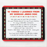 Funny Things I Learned From My Korean Jindo Dog Mousemat