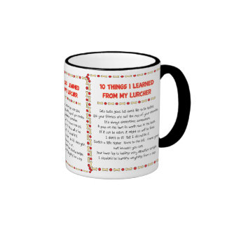 Funny Things I Learned From My Lurcher Ringer Mug