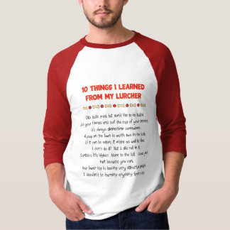 Funny Things I Learned From My Lurcher T-shirts