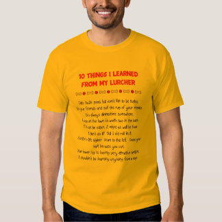 Funny Things I Learned From My Lurcher Tshirt