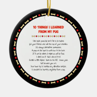 Funny Things I Learned From My Pug Christmas Ornament