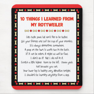 Funny Things I Learned From My Rottweiler Mouse Mat