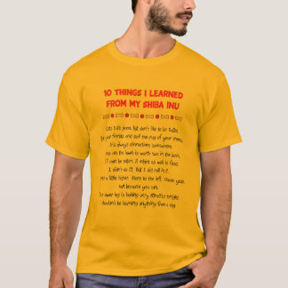 Funny Things I Learned From My Shiba Inu T-Shirt