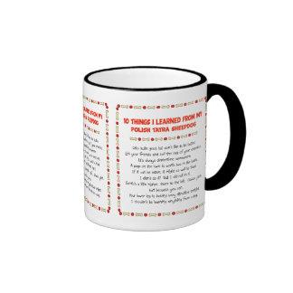 Funny Things I Learned From Polish Tatra Sheepdog Ringer Mug
