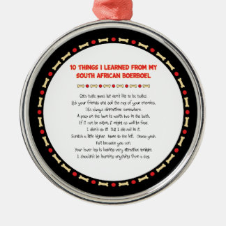 Funny Things I Learned From South African Boerboel Christmas Ornament
