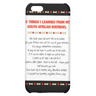 Funny Things I Learned From South African Boerboel iPhone 5C Cases