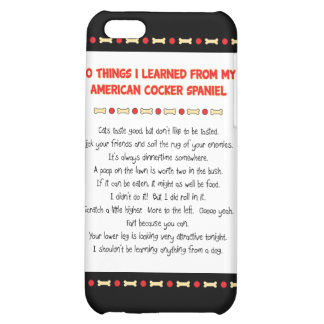 Funny Things Learned From American Cocker Spaniel Case For iPhone 5C