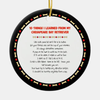 Funny Things Learned From Chesapeake Bay Retriever Christmas Ornament