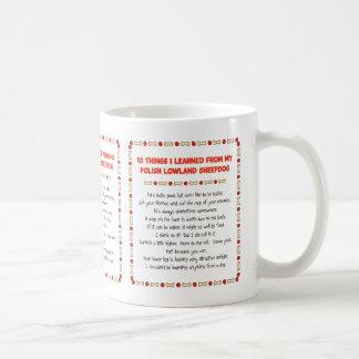 Funny Things Learned From Polish Lowland Sheepdog Basic White Mug
