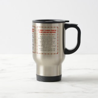 Funny Things Learned From Polish Lowland Sheepdog 15 Oz Stainless Steel Travel Mug