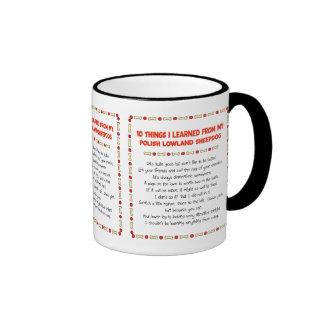 Funny Things Learned From Polish Lowland Sheepdog Ringer Coffee Mug