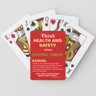 Funny Think Health and Safety Spoof Joke Warning Playing Cards