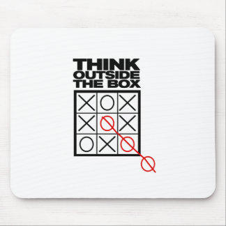Funny Think Outside the box Mouse Mat