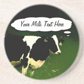 Funny Thinking Cow Coaster