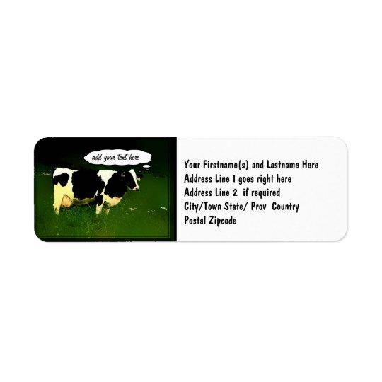 Funny Thinking Cow Return Address Label