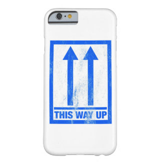 Funny this way up sign barely there iPhone 6 case
