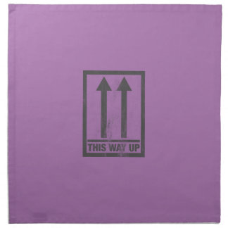 Funny this way up sign napkin