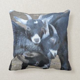 Funny Three Goats In A Head Lock Cushion