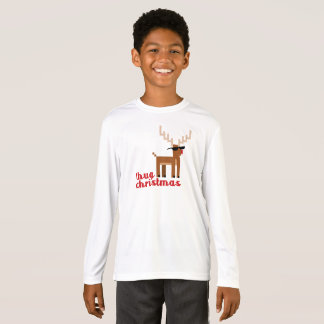 Funny Thug life Rudolph red nosed Reindeer Xmas T-Shirt
