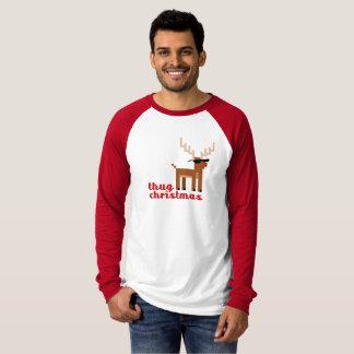 Funny Thug Life Rudolph Reindeer Christmas Xmas T-Shirt