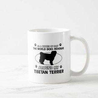 Funny tibetan terrier designs basic white mug