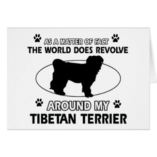 Funny tibetan terrier designs card