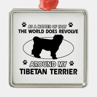 Funny tibetan terrier designs christmas ornament