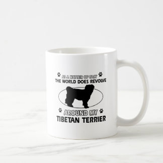 Funny tibetan terrier designs coffee mug