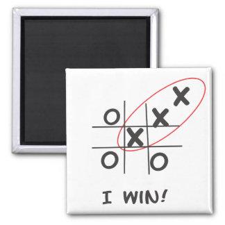 Funny Tic, Tac, Toe Square Magnet