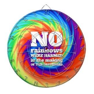 Funny TieDye No Rainbows Were Harmed ... Dartboard