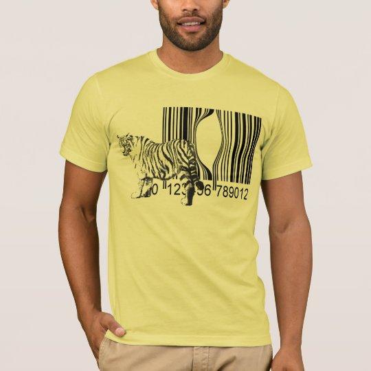 Funny tiger free vector T-Shirt