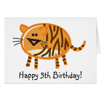 Funny Tiger on White Greeting Card