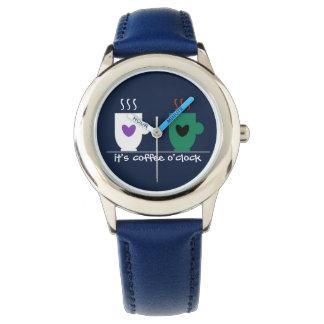 Funny Time Cute Coffee Mugs Cartoon Love Cool Blue Watch