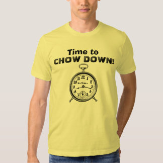 Funny Time to CHOW DOWN Vintage Clock V25 T Shirts