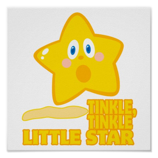 funny tinkle tinkle little star print
