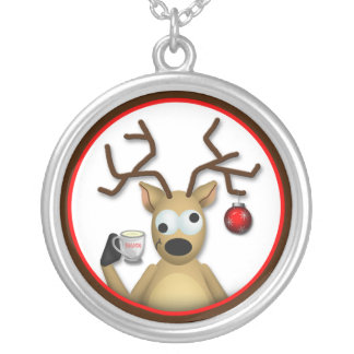Funny Tipsy Reindeer Necklace