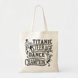 Funny Titanic Steerage Dance Champion Budget Tote Bag